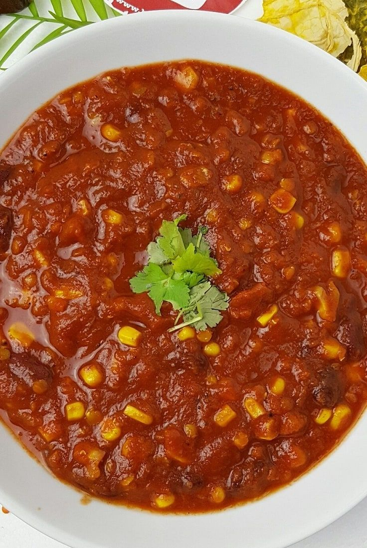 Vegetarisches Chili - mit Roten Linsen