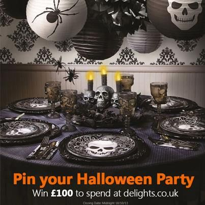 pinterest competition on delightscouk facebook page halloween party supplieshalloween