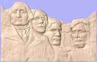 Mount Rushmore 3D Clip Art available from VectorArt3D.com - A take on the famous sculptures made by the artists at Vectric
