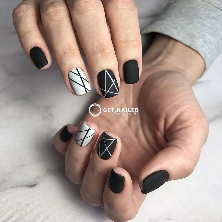 Gel Nail Designs Gray