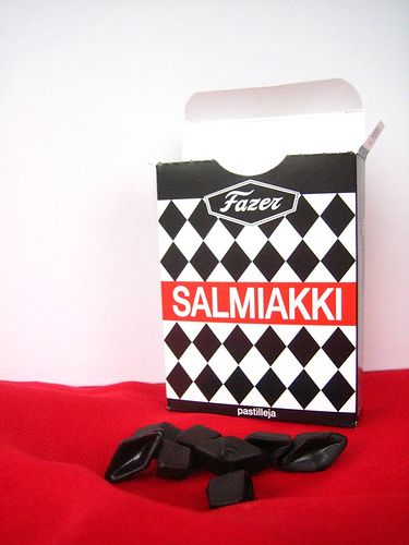 "the best salt liquorice ever! This is Salmiakki by Fazer, tiny diamonds of salt and sweet liquorice... This brand gave this diamond shape the name ""salmiakki"" in Finland :-D"