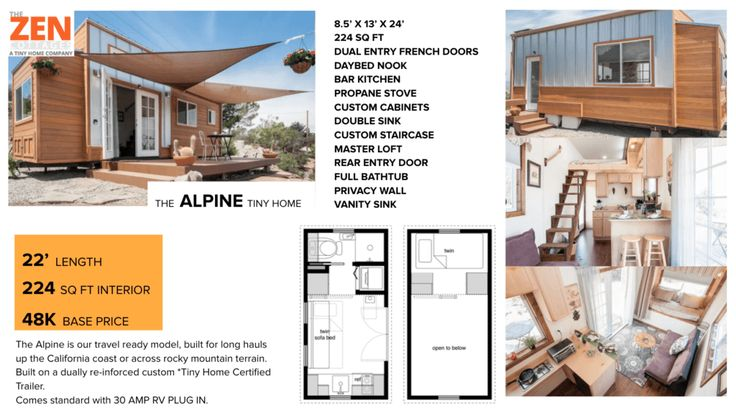 Alpine Tiny Home, by The Zen Cottages - Tiny House Listings