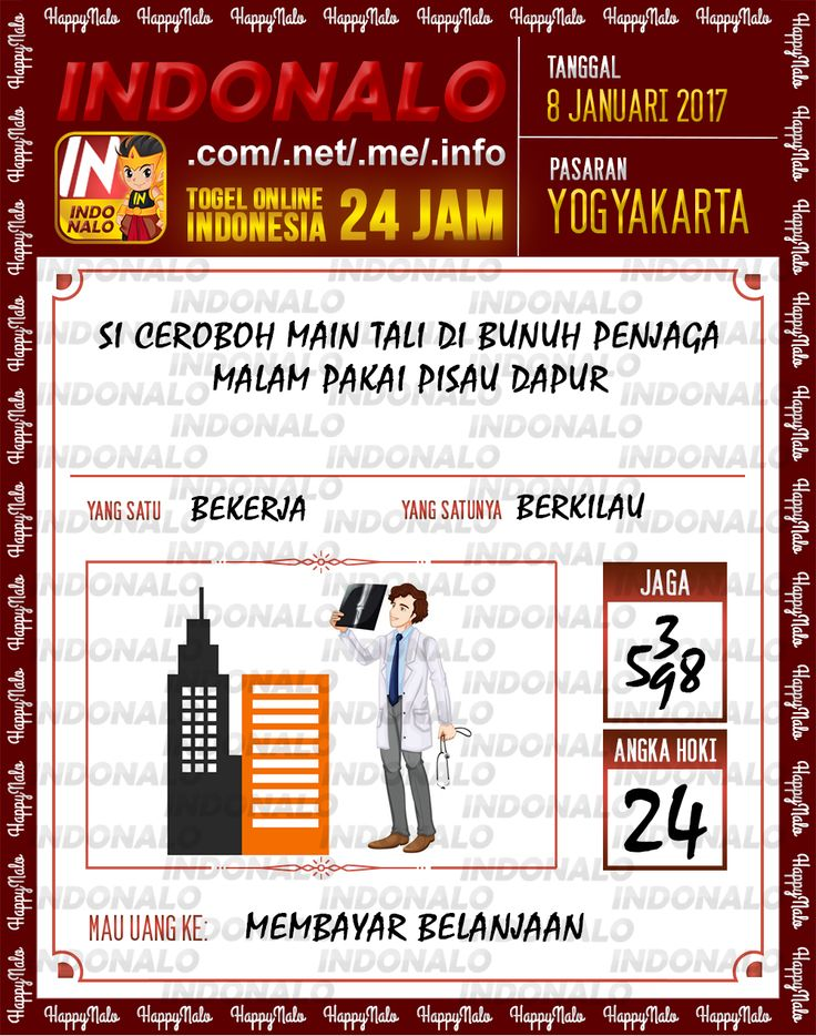 Kode Jaga 4D Togel Wap Online Live Draw 4D Indonalo Yogyakarta 8 Januari 2017
