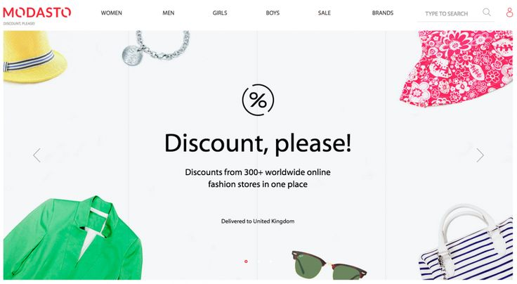 Modasto website