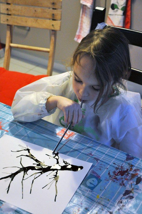 Prendre le temps - Voyageons Ludique - Asie - Cerisier japonais à l'encre de chine et peinture - Japon - 01