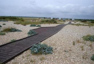 Boardwalk installation at Pagham Split beach
