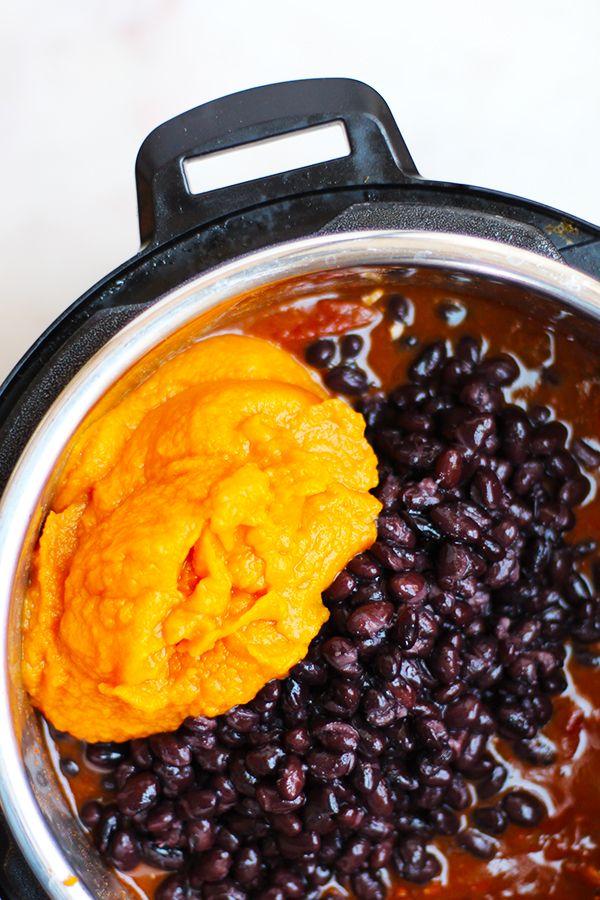 Instant Pot Vegetarian Pumpkin Black Bean Chili Recipe Ingredients Include Pump Gluten Free Instant Pot Chili Recipe With Black Beans Black Bean Pumpkin Chili