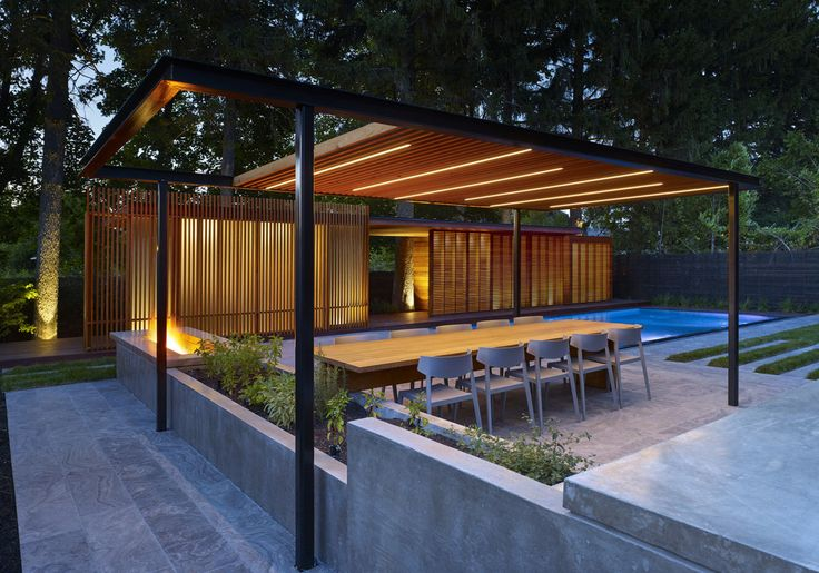 A Backyard Pavilion and Pool for the Perfect Escape