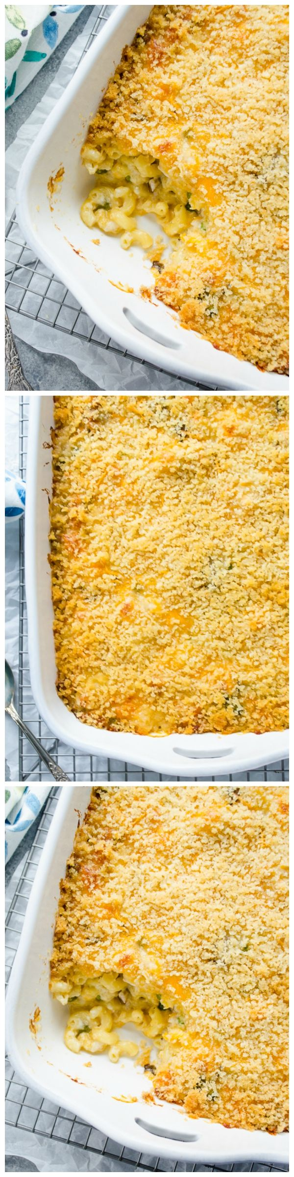 Overnight Creamy Chicken Mac and Cheese Casserole - This yummy casserole is made completely in advance with no boiling the macaroni required! It's made completely from scratch and is sure to be a family favorite! 