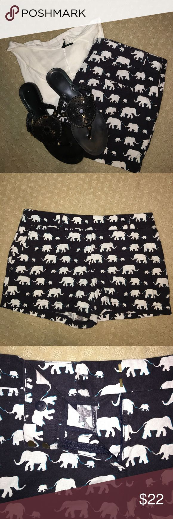 Anne Taylor Loft riviera short Navy elephant shorts! 55% linen and 45% cotton. Very comfortable and no noticeable signs of wear! LOFT Shorts
