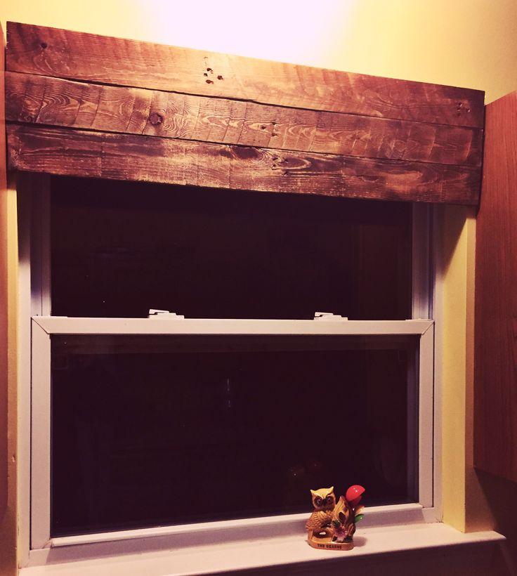 Kitchen Window Wood Valance Ideas