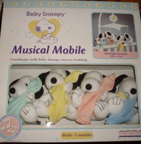 Baby Snoopy Nursery Mobile - Lambs & Ivy - My Little Snoopy - Blankets