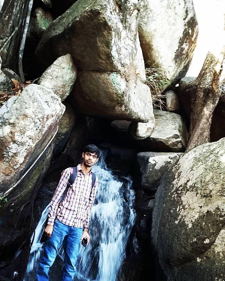 Govind Pathak  #incredibleindia @NarendraModi  #yoga at Lower ghaghri Waterfalls, Latehar