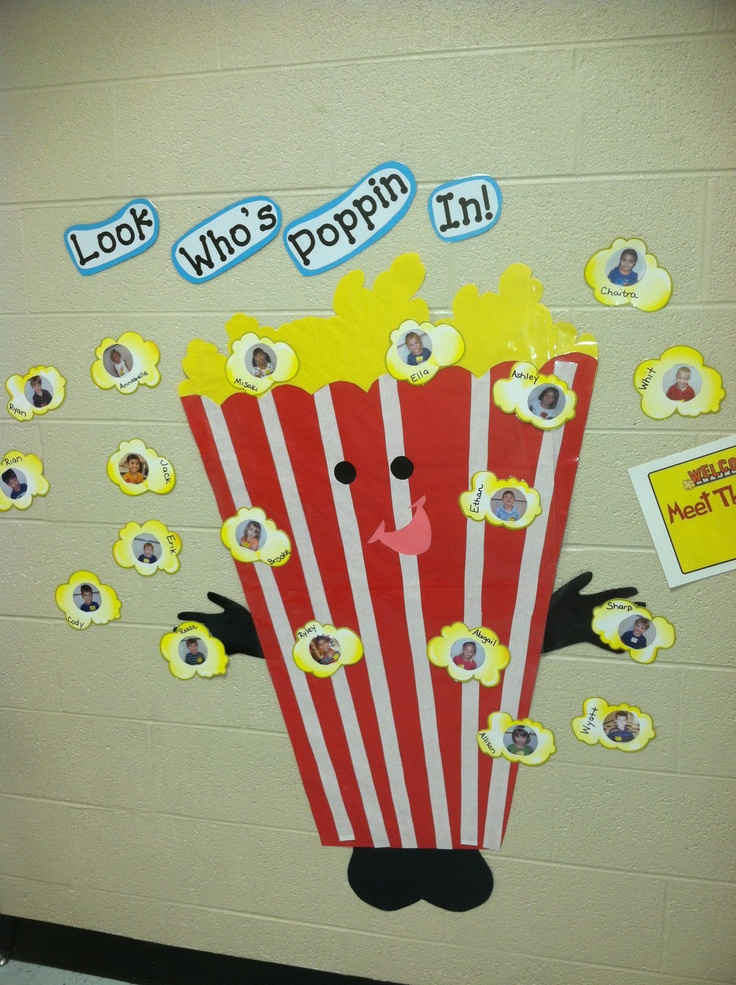 My Kindergarten Hollywood Themed Hallway Display