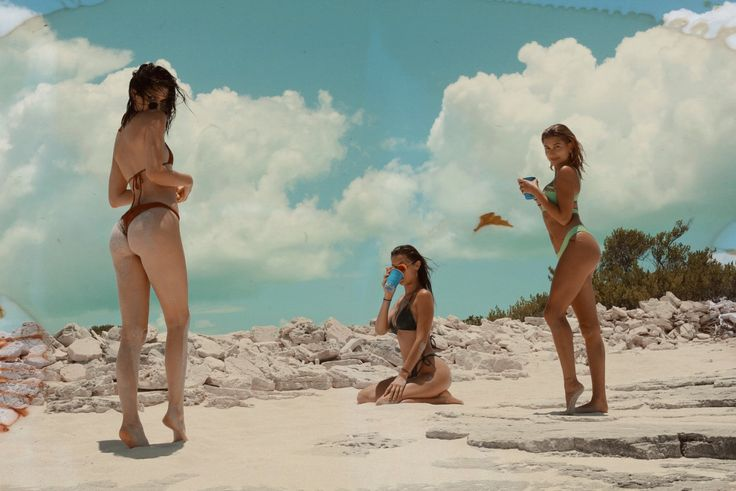 "allthingskendall: "" Kendall, Bella, and Hailey in Turks & Caicos Photographed by Renell Medrano for WMagazine.com """