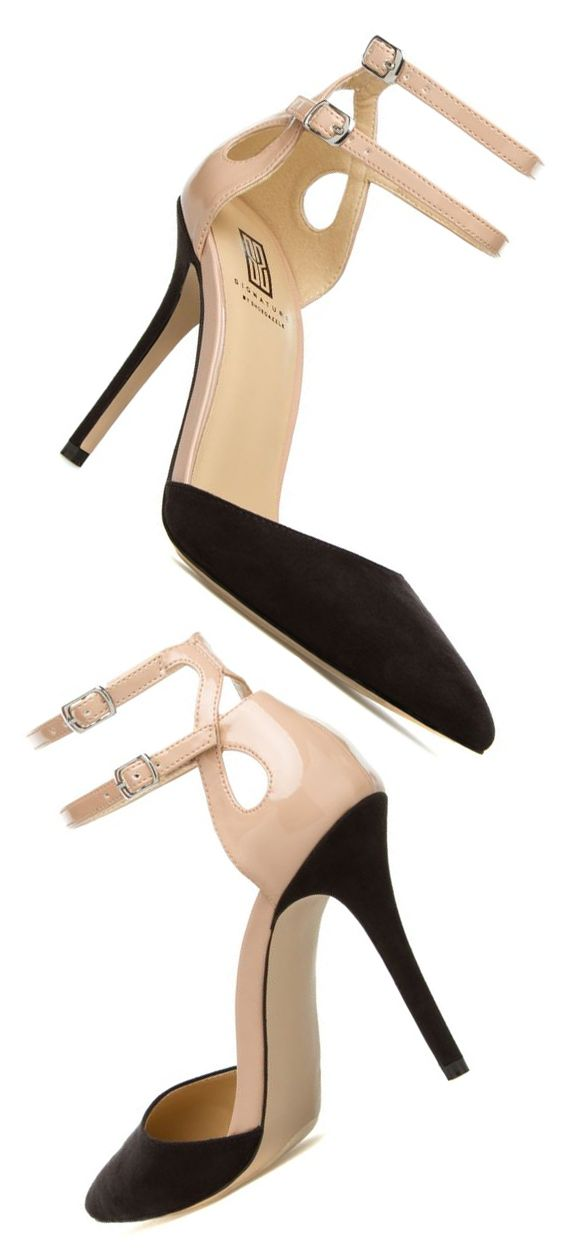 Zaren Heels in Black and Tan | fashion
