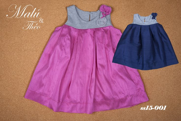 Silk dress with swarovski elements - Italian Style for kids