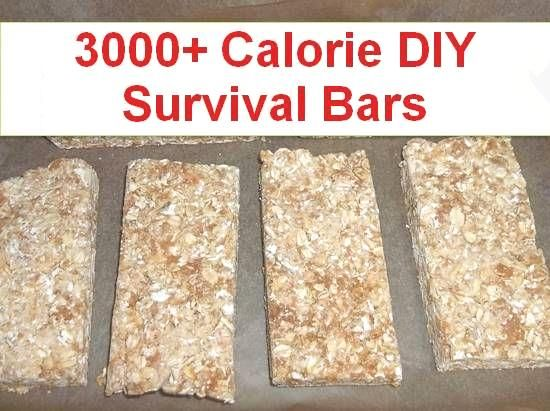 Learn to make your own homemade emergency food ration bars…