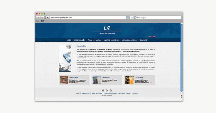Lagoabogados.com   Websites. Página web multilenguaje para un despacho de abogados situado en Murcia. http://www.lagoabogados.com/