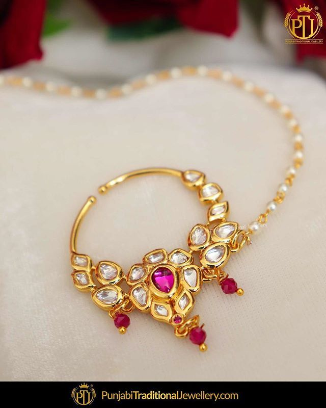 Featured Gold Finished Ruby Nath Nose Ring Shop Our Latest