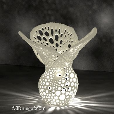 3D printed lamp by Dizingof on ponoko