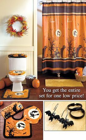 17 best ideas about halloween bathroom on pinterest for Halloween bathroom ideas