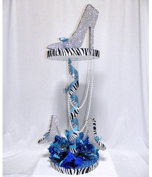 Centerpieces, instead of zebra -leopard, instead of blue- red, instead of white- ivory.