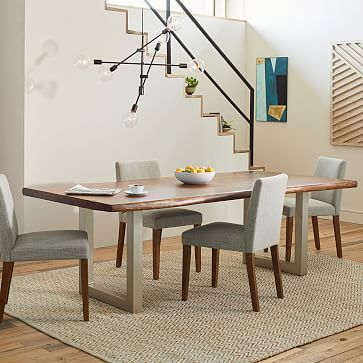 Live Edge Wood Dining Table #westelm