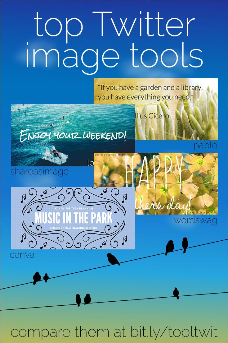 Want to use Twitter images, but don't know how to make 'em? Check out these Twitter image tools! They'll make your tweets stand out, for more retweets!
