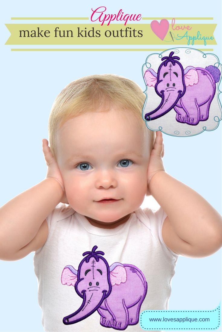 Heffalump Applique Design. Winnie The Pooh Applique. Winnie the Pooh embroidery . Winnie the Pooh Party Ideas. Winnie the pooh Outfits. Disney Applique Designs. www.lovesapplique.com