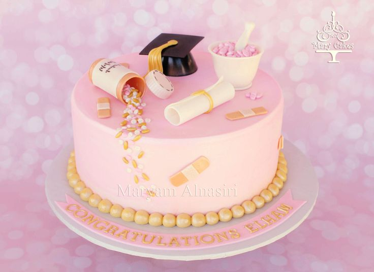 Pharmacy Technician theme cake https://www.facebook.com/maryam.cakes
