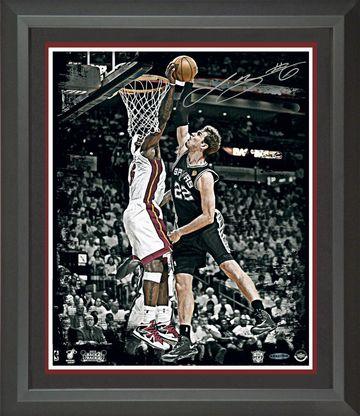 Lebron James Signed 2013 NBA Finals Rejection Photo Framed