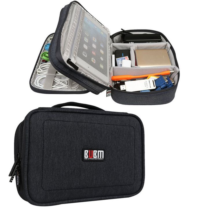 BUBM DPS-S Double Layer Electronics Accessories Cable Organizer Data Cable Storage Bag Carry Case Sale - Banggood.com