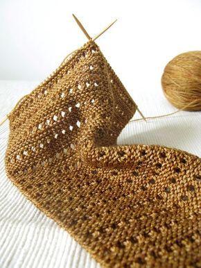 baktus rendado - padrão livre! Elenco 4. Linha 1: tricotar 1, YO, tricotar o resto do r ...