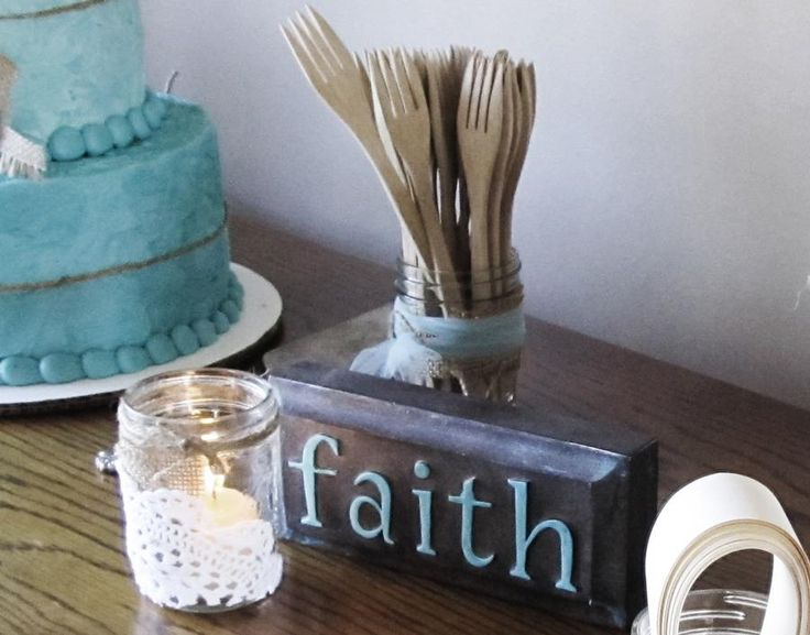 Great decor ideas to emphasize the message of faith.
