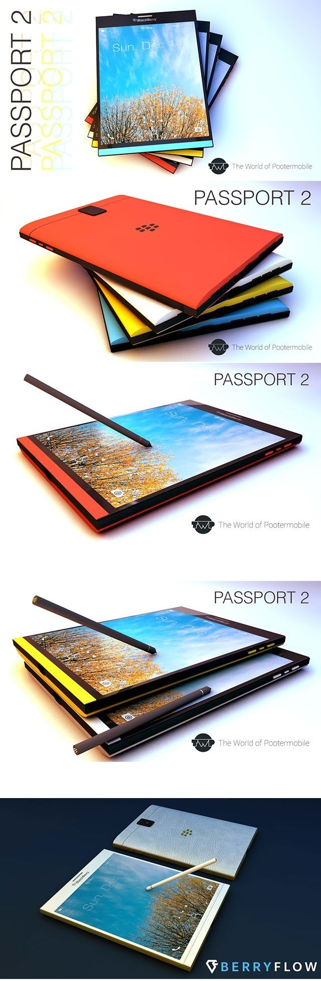BlackBerry Passport 2 : a concept of any touch by Pootermobile