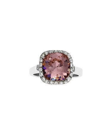 brilliance jayden star Love this Rose & Gold Princess-Cut Ring With Swarovski® Crystals on #zulily! #zulilyfinds
