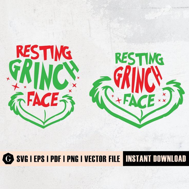 Resting Grinch Face Svg Resting Grinch Face Png Resting Etsy Grinch Face Svg How To Make Tshirts Grinch Mask