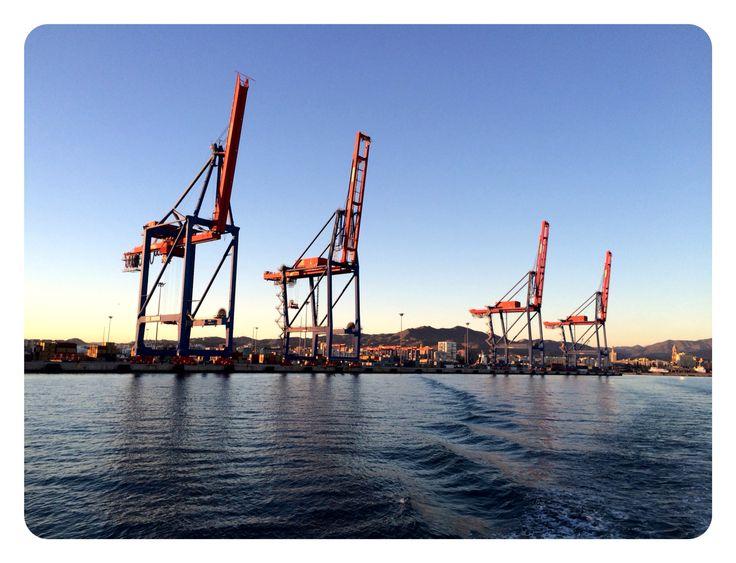 Gruas puerto Málaga