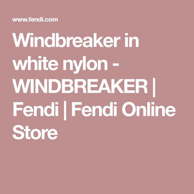 Windbreaker in white nylon - WINDBREAKER | Fendi | Fendi Online Store