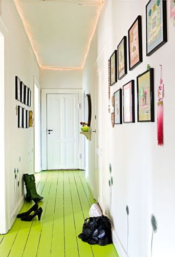 this shade of lime isn;t exactly right for me but I love the idea. think I would do it yellow.