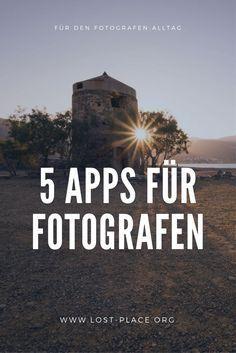 Fotografie Apps für dein Smartphone! Ich stelle dir 5 Fotografen-Apps vor, die dir helfen deine Shootings und deine Fotos besser zu planen und zu bearbeiten. Und das alles auf dem Smartphone!