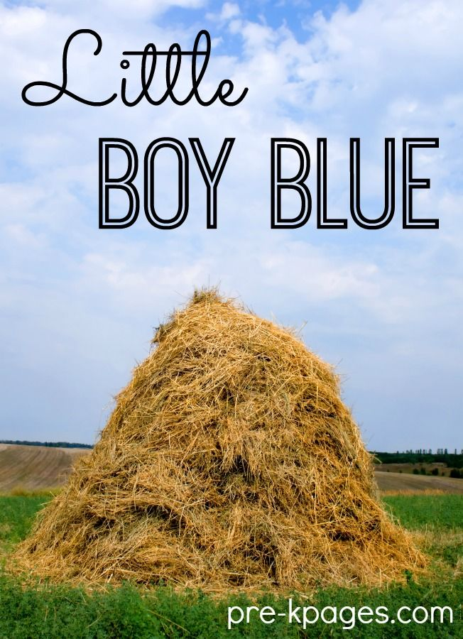 Little Boy Blue nursery rhyme lesson plans for preschool, pre-k, and kindergarten. Printable activities for literacy, math, and more!