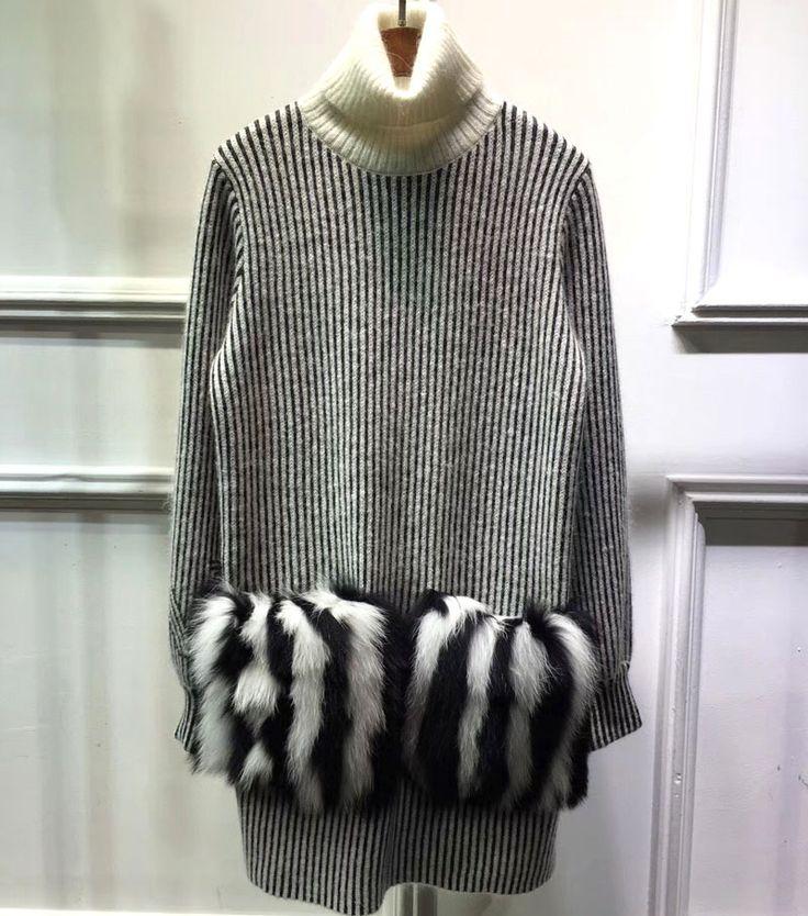 Wool Turtleneck Sweaters Women 2017 Pullover Sweater With Pockets Long Sweater Women Winter