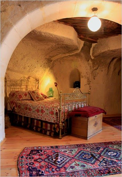Moon to Moon: A house built in Turkish Caves... (i would love a peek in but have claustrophobia)