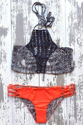 crochet halter bikini #acaciaswimwear