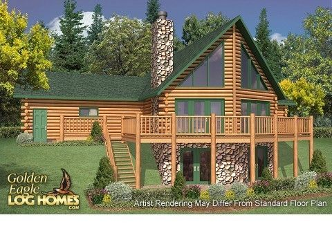 Log Homes And Home Floor Plans Cabins By Golden Eagle