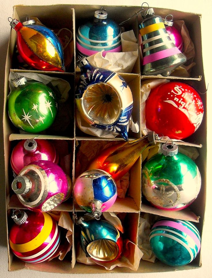 Shiny Brights Glass Ornaments