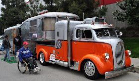 Just a car guy : Most impressive hot rod truck and trailer I've seen in a while, the Elwoods Garage Spartan Custom Mansion and 1938 Ford COE