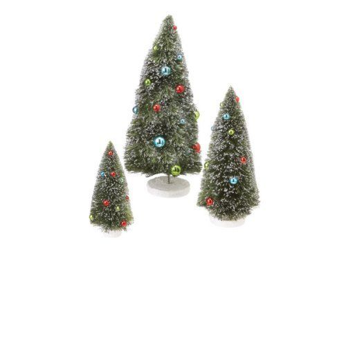 3 Christmas Trees by Gordon Companies, Inc. $73.50. This product may be prohibited inbound shipment to your destination.. Brand Name: Gordon Companies, Inc Mfg#: 30786062. Please refer to SKU# ATR25791650 when you inquire.. Picture may wrongfully represent. Please read title and description thoroughly.. Shipping Weight: 3.00 lbs. 3 Christmas trees/fully dimensional/self standing/17''H x 7'' dia./made of PVC, acrylic, and glitter